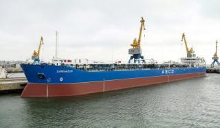 Spotted: ASCO tanker Zangezur overhauled at Zykh Shipyard