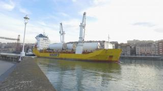 First Hywind Scotland Towers Head to Norway aboard BigLift Shipping's Traveller