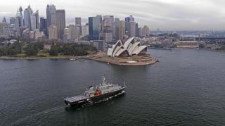 Australian Navy MATV arrives in home port of Sydney, Australia
