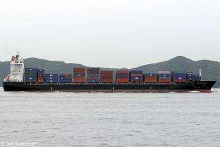 Fire in container cargo on board boxship Northern Volition