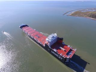 Crowley Takes Delivery of Second LNG-Powered ConRo Ship for U.S. Mainland-Puerto Rico Trade
