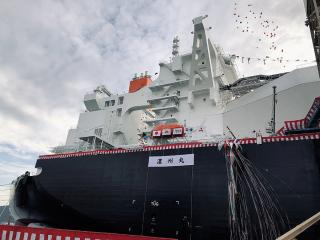 Mitsubishi Shipbuilding Holds Christening Ceremony for Next-Generation LNG Carrier NOHSHU MARU