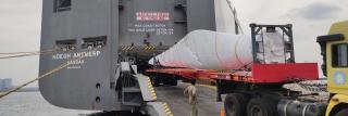 Höegh breaks record in Ennore; loading longest breakbulk unit on RoRo