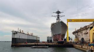 Video: Huntington Ingalls Industries Launches Arleigh Burke-Class Destroyer Paul Ignatius (DDG 117)