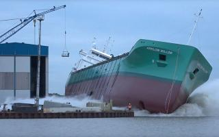 Nb. 449 Arklow Willow successfully launched at Ferus Smit Yard in Leer (Video)