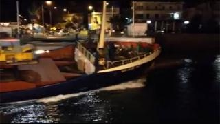 Freighter OLGA M collided with bridge in Halkida, Greece (Video)