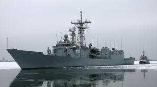 Polish warships encountered during maneuvers in the Baltic Sea