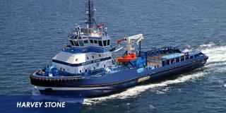Eastern Shipbuilding Delivers the M/V HARVEY STONE to Harvey Gulf International Marine, LLC