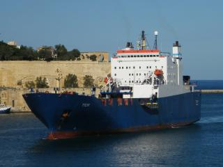 Armoured vehicles on board ro-ro cargo ship found by Greek Customs