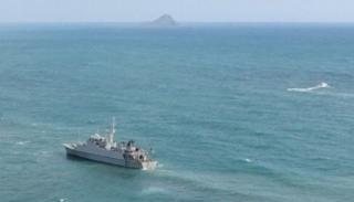 Refloating efforts continue for Grounded Spanish Warship Turia