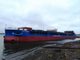 Nevsky Shipyard launched dry cargo vessel of Project RSD59 Pola Anfisa