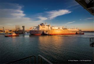 World's first top category ice class LNG carrier calls at Zeebrugge LNG terminal