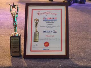 """Simatech Shipping awarded """" Container Feeder operator of the Year"""""""