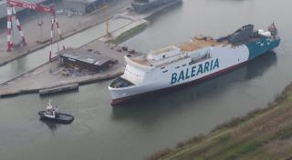 First Balearia LNG ferry Hypatia de Alejandría launched in Italy