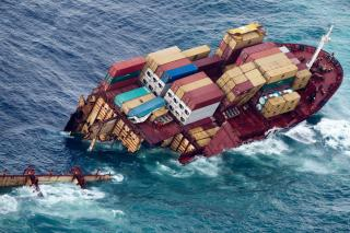 Chinese container ship sinks off Guangzhou, eight crew rescued
