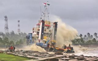 Spotted: Tug AST Legend grounded by cyclone Roanu