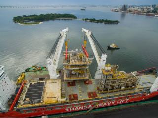 Hansa Heavy Lift Transports Giant Pipe Racks For New FPSO Unit In Brazil