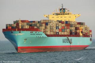 Fire in container underdeck aboard container ship Maersk Kensington. All crew safe; Fire contained