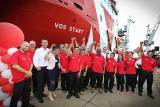 VOS Start named in a ceremony at Damen Shiprepair, Amsterdam
