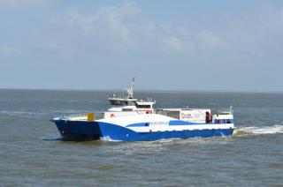 Freight catamaran conversion at Damen Shiprepair Harlingen