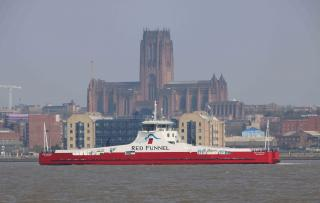 """Cammell Laird Stages """"Sail-Away"""" of Newly Built £10M Ferry The Red Kestrel"""