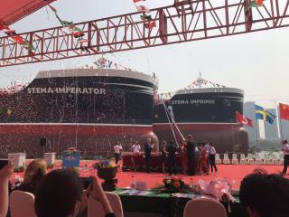 Stena Imperator and Stena Imprimis in double naming ceremony in Guangzhou