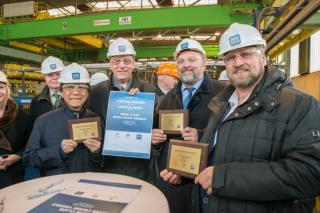 First steel cut for two further river cruise ships for Crystal River Cruises at MV WERFTEN
