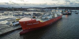 Coral EnergICE, first Ice Class 1A Super LNG carrier named