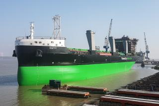ESL Shipping's new LNG-powered bulk carrier Haaga launched in Nanjing