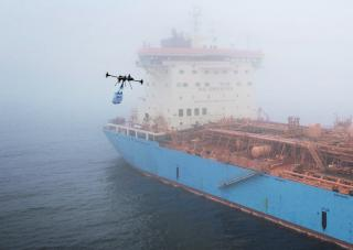 Maersk Tankers Completes Successfully Test of Drone Delivery to Ship at Sea (Video)