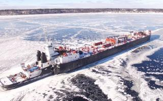 WATCH: Drone Footage Of Ship Frozen In Ice at Lake Michigan
