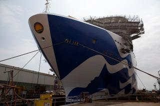 Fincantieri: Enchanted Princes Floats Out in Monfalcone