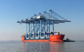 Ship carrying four huge new NWSA container cranes to arrive Friday in Tacoma