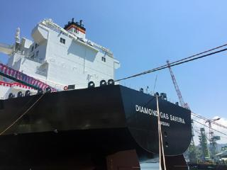 Mitsubishi Shipbuilding Holds Christening Ceremony for Next-Generation LNG Carrier Diamond Gas Sakura