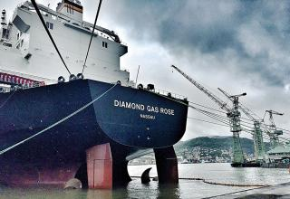 Mitsubishi Shipbuilding Holds Christening Ceremony for Diamond Gas Rose, Next-Generation LNG Carrier