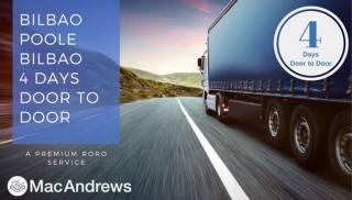 MacAndrews Announces New Product – RoRo service between Bilbao, Spain and the Poole, UK
