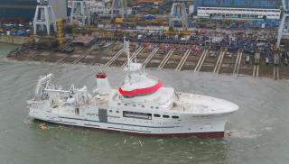 Damen launches cutting-edge Fishery Research Vessel for Angolan Fisheries Ministry