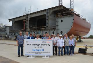 Pasha Hawaii Marks Construction Milestones at Keppel AmFELS for new 'Ohana Class Containerships
