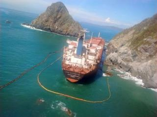 Oil still leaking from grounded ship Los Llanitos in Mexico