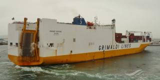 ConRo vessel GRANDE SENEGAL troubled at Gibraltar harbor