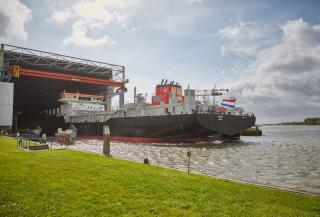 IHC Launches Biggest Dredger In South Africa