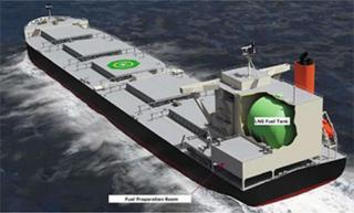 MOL, Tohoku Electric Power, Namura Shipbuilding Jointly Earn AIP for Design of LNG-powered Coal Carrier
