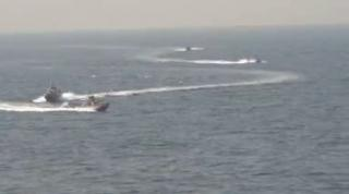U.S. Navy Destroyer USS Nitze (DDG-94) Harassed by Iranian Patrol Boats (Video)