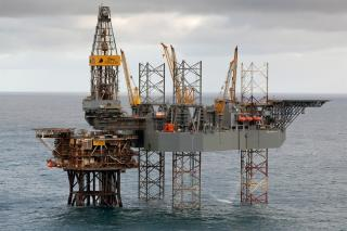 Supply vessel collides with an oil platform in the North Sea