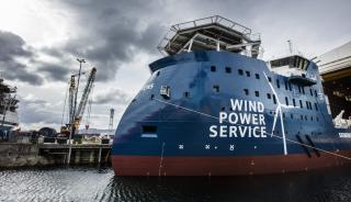 First Offshore Wind Service Vessel from Ulstein Verft launched (Video)