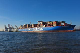 First 20,000 TEU container ship at Tollerport