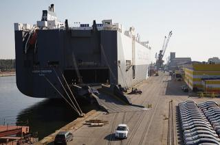 KIA cars at the Port of Gdansk for the first time