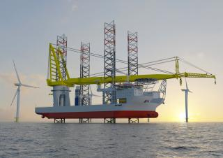 Jan De Nul Group's newest jack up vessel 'Voltaire' will be equipped with Huisman Leg Encircling Crane