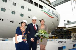 Costa Cruises Celebrates Float-out of Costa Venezia - Its First Ship Being Built for China Market
