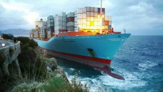 Container ship Gustav Maersk refloated after grounding at Torre Cavallo, Messina Strait (Video)